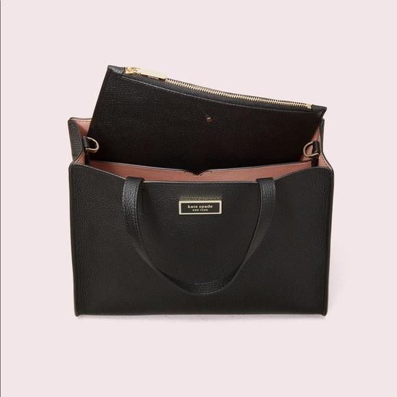 kate spade Handbags - Kate Spade Medium Sam Satchel Black